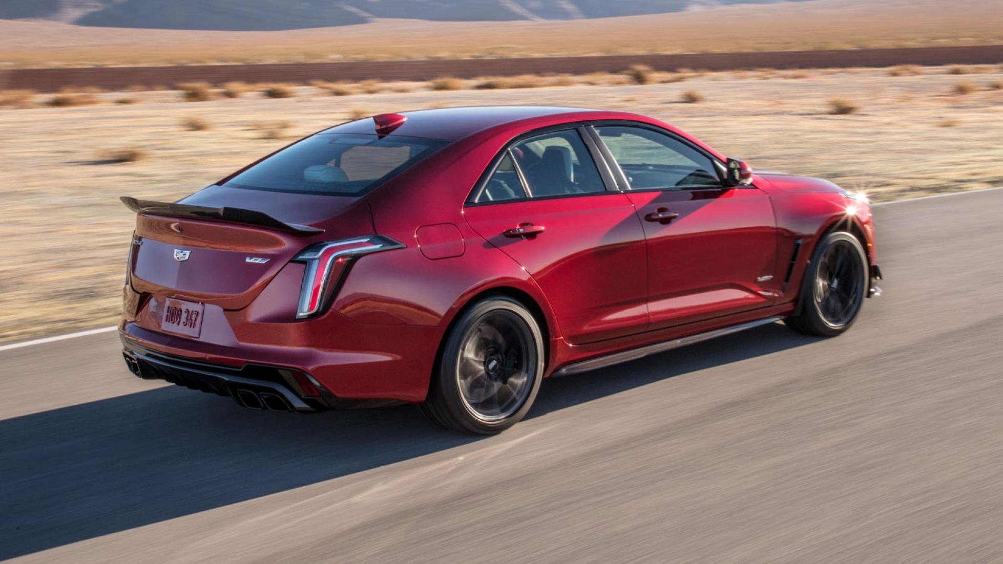 Cadillac CT4-V Blackwing (red) - On the road