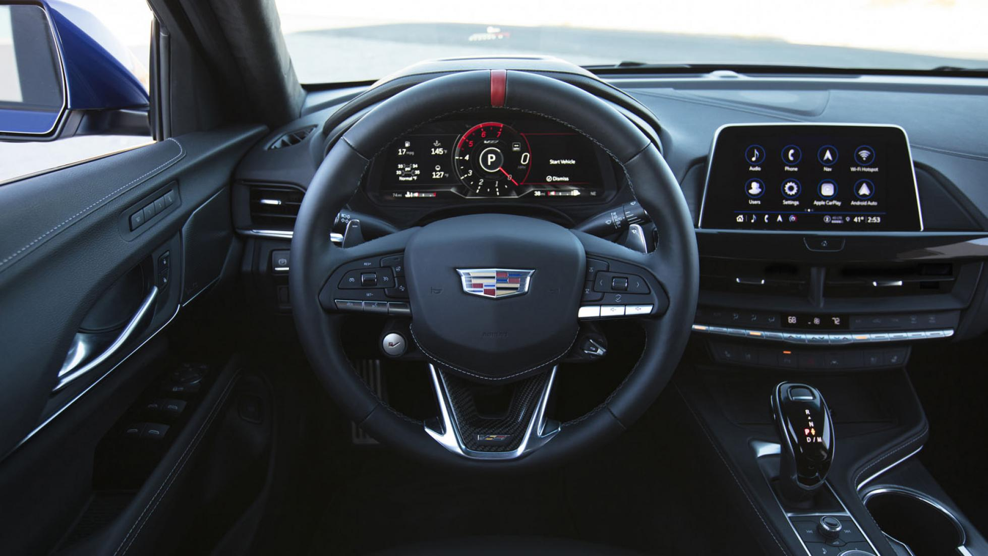 Cadillac CT4-V Blackwing (red) - Steering Wheel
