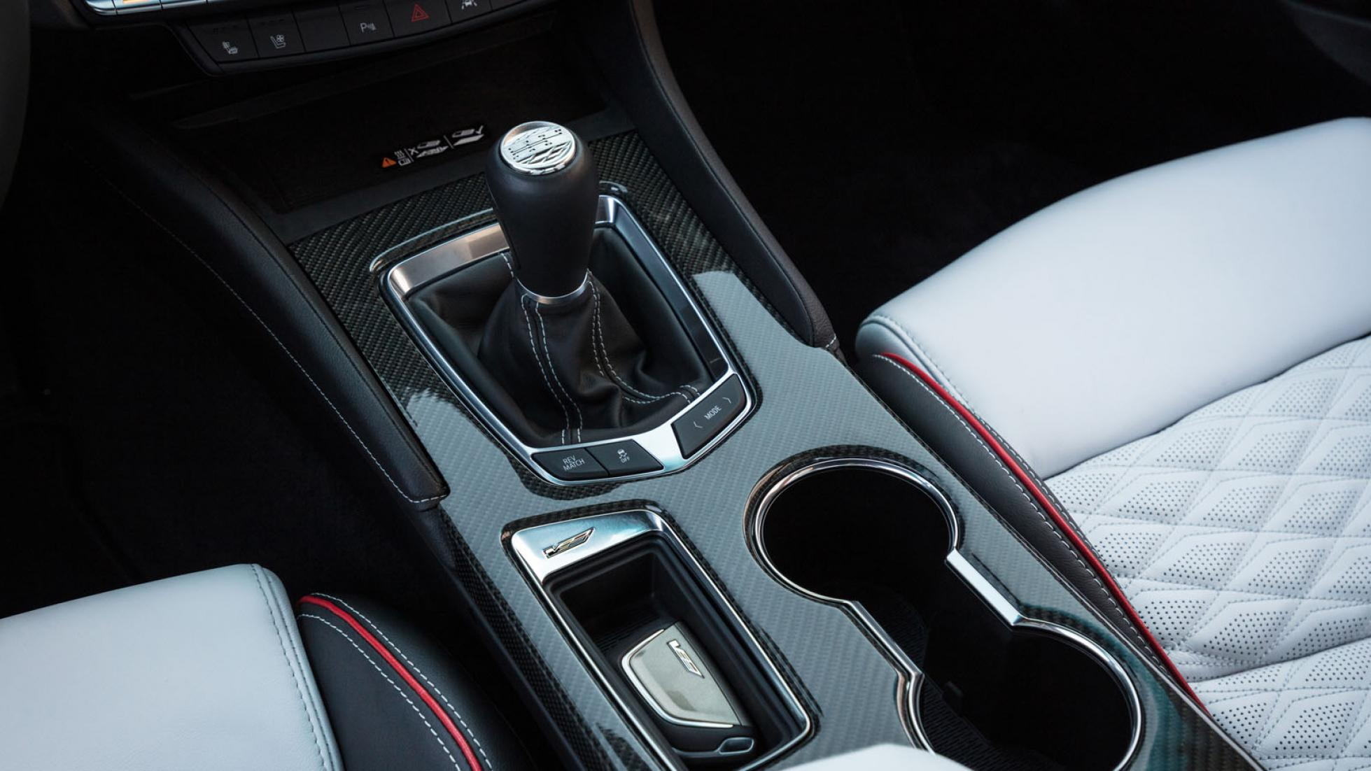 Cadillac CT4-V Blackwing (red) - Center Console