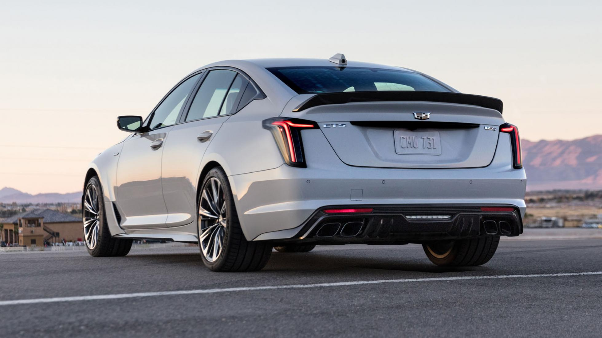 Cadillac CT5-V (white) - Rear View