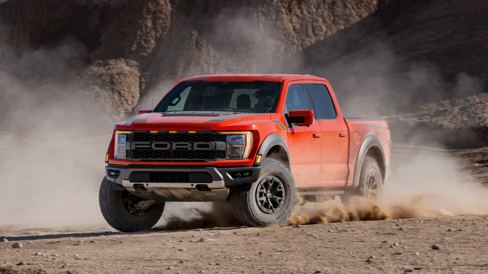 Ford's F-150 Raptor driven on dirt