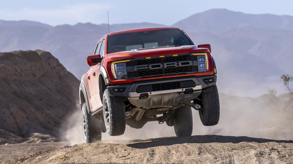 The Ford F-150 Raptor - Air time front view