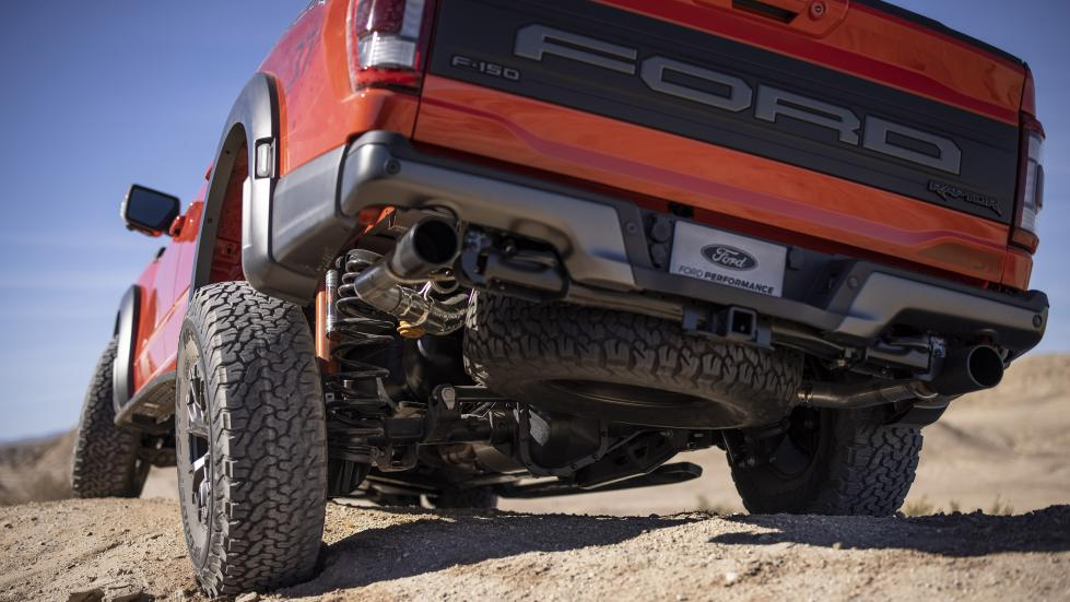 The Ford F-150 Raptor - Angled Rear Under Chassis View
