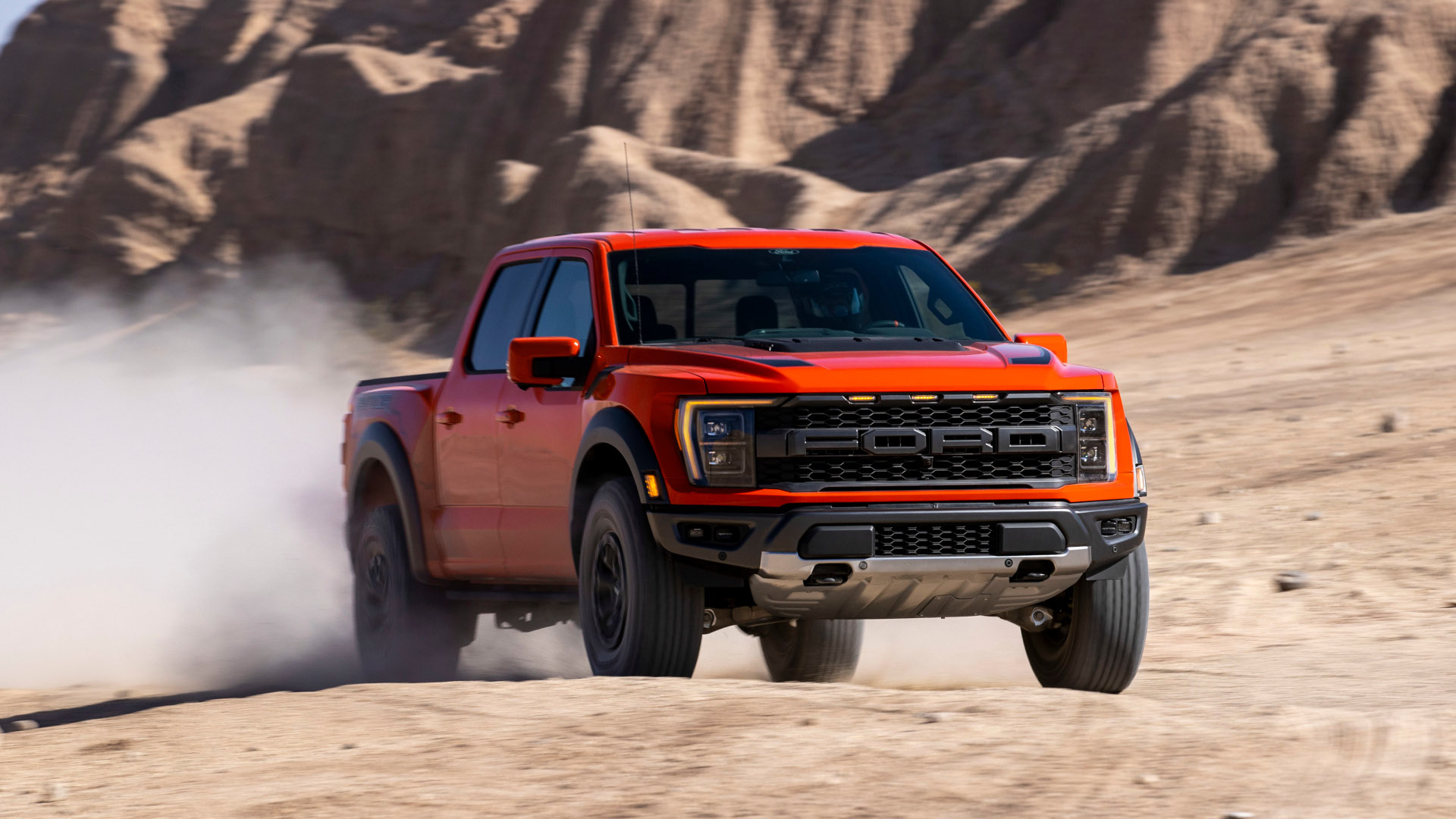The Ford F-150 Raptor - Front View Off Road
