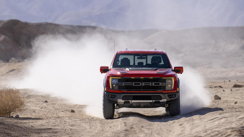 The Ford F-150 Raptor - Off Road Action with Dust Trails