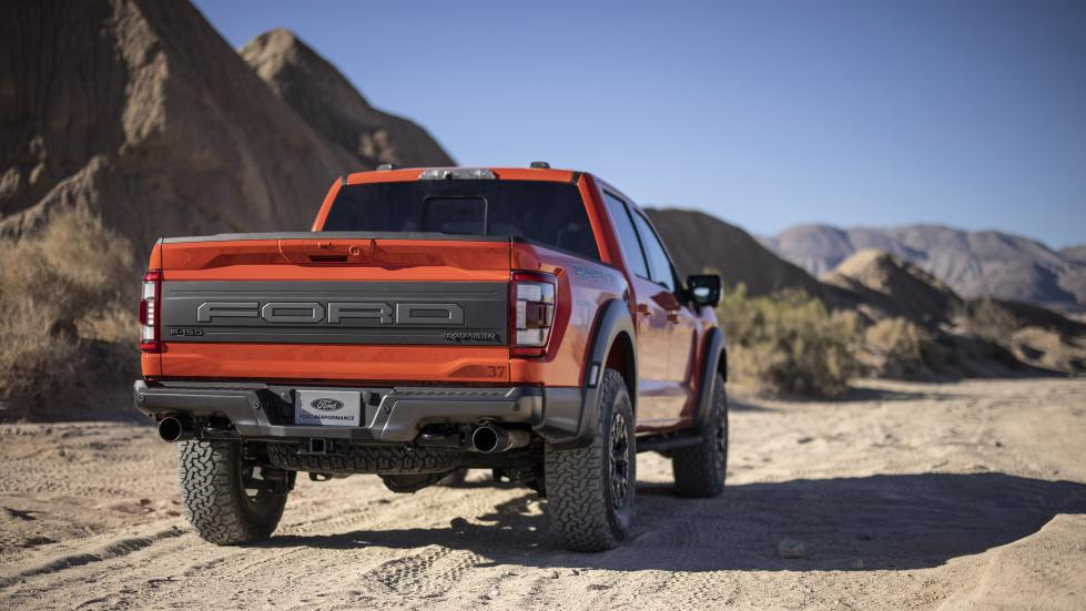 The Ford F-150 Raptor - Wide Angled Rear View