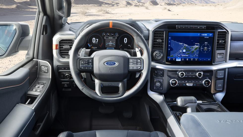 The Ford F-150 Raptor - Steering Wheel and Center Console