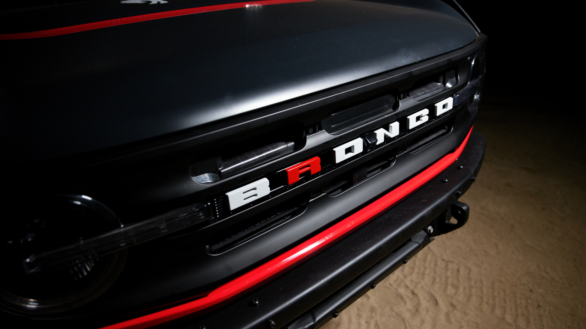 The Ford Bronco 4600 -  Front Bronco Emblem