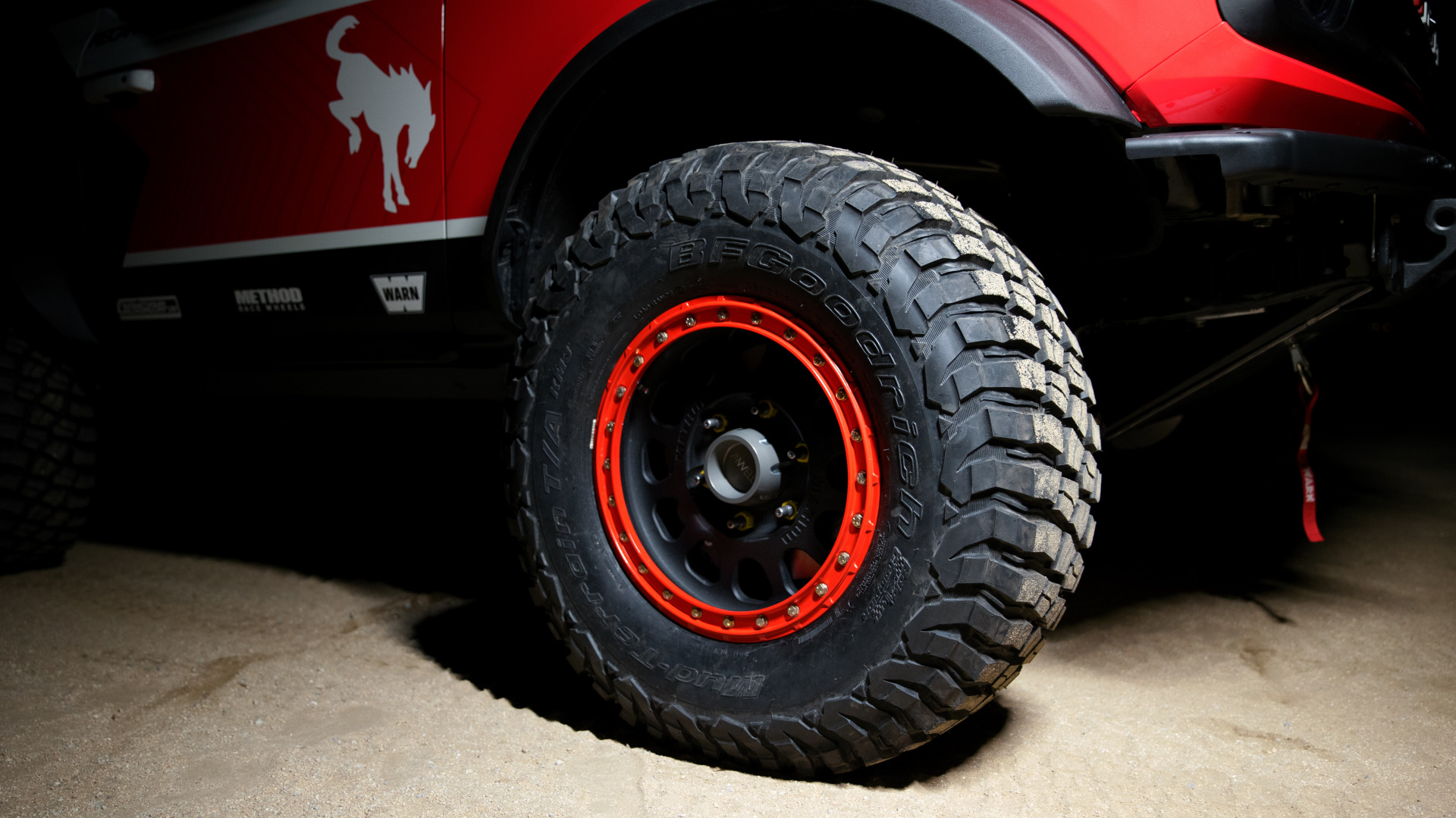 The Ford Bronco 4600 - Front Wheel Detail