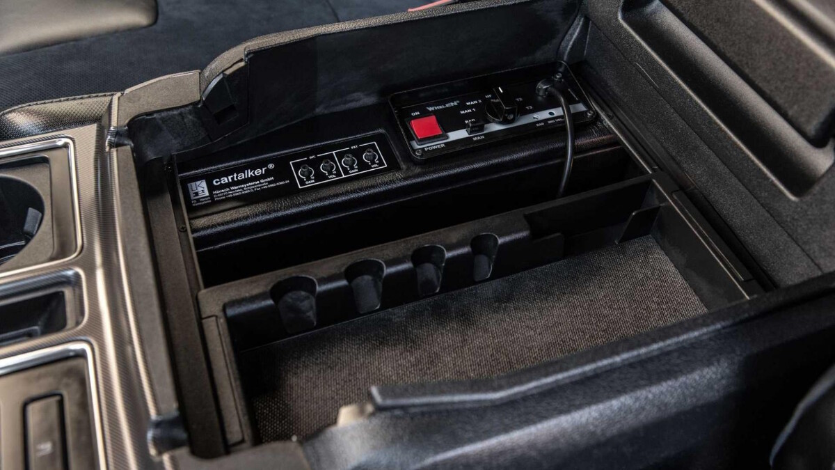 The Hennessey VelociRaptor center console