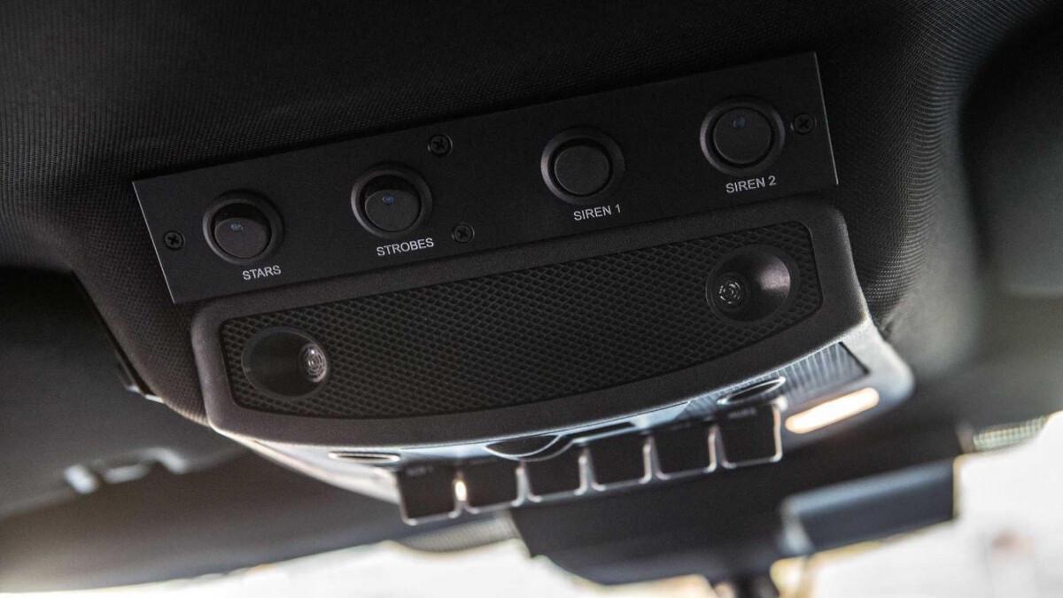 The Hennessey VelociRaptor overhead control panel
