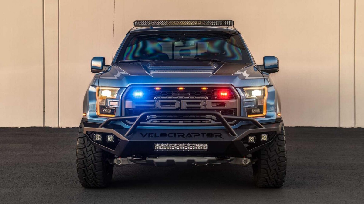 The Hennessey VelociRaptor front view