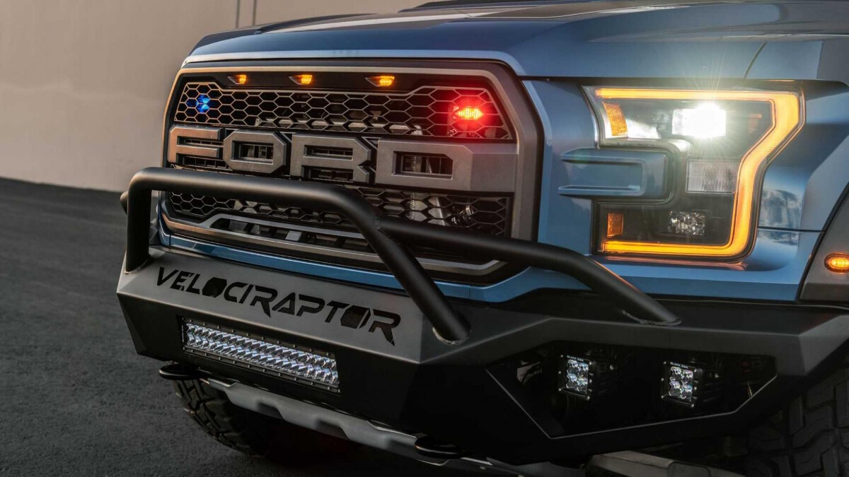 The Hennessey VelociRaptor front grill