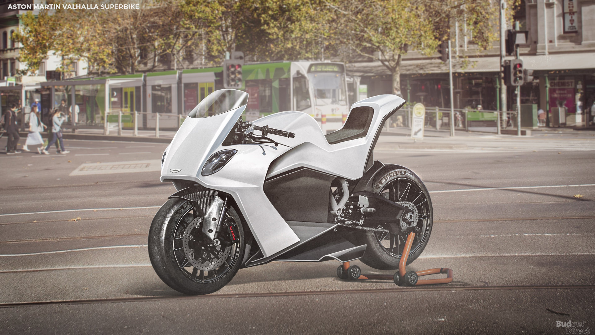 What if supercar brands made superbikes? Here's what Ason Martin Valhalla would look like