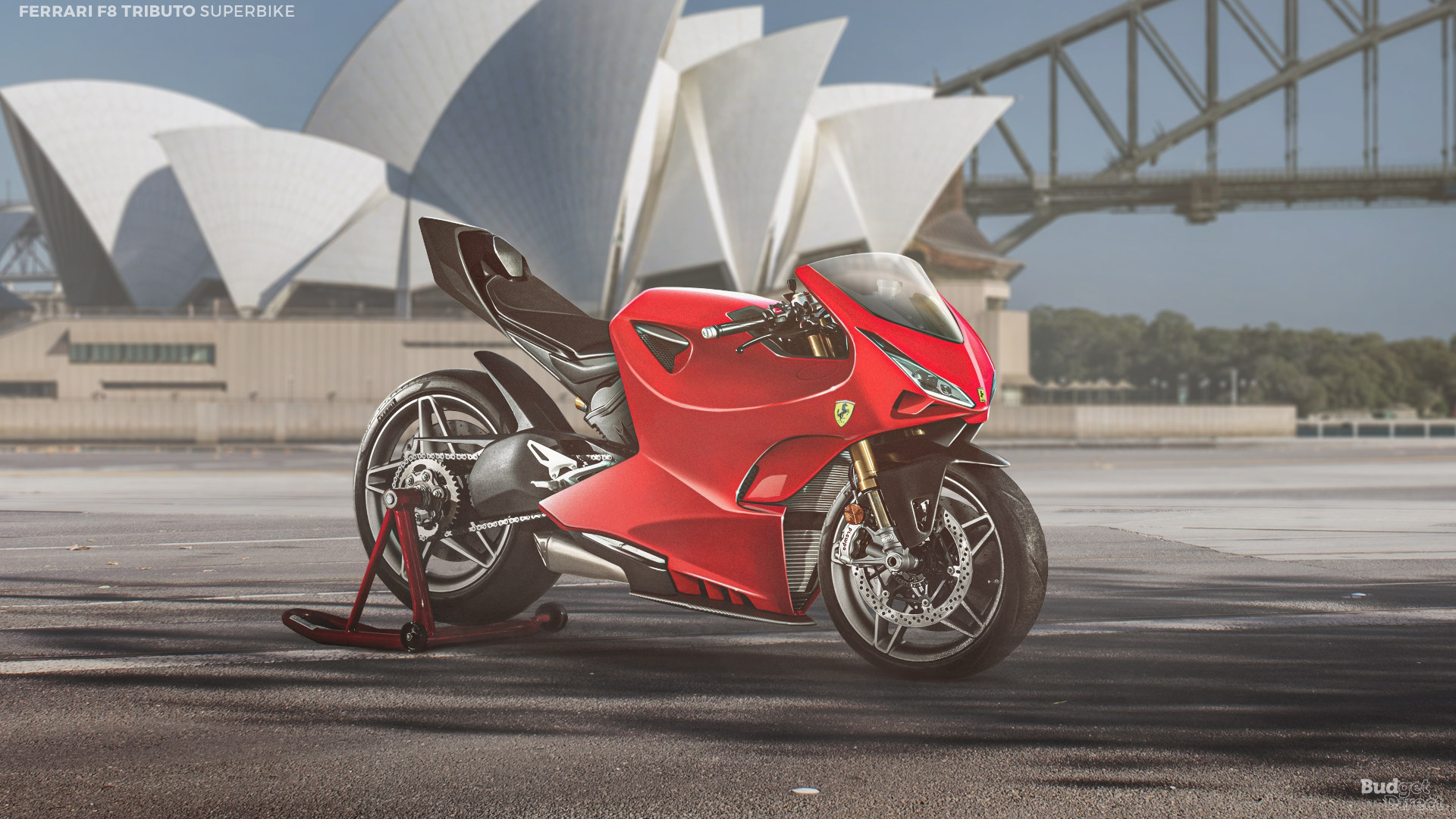 What if supercar brands made superbikes? How about a Ferrari F8 Tributo superbike?
