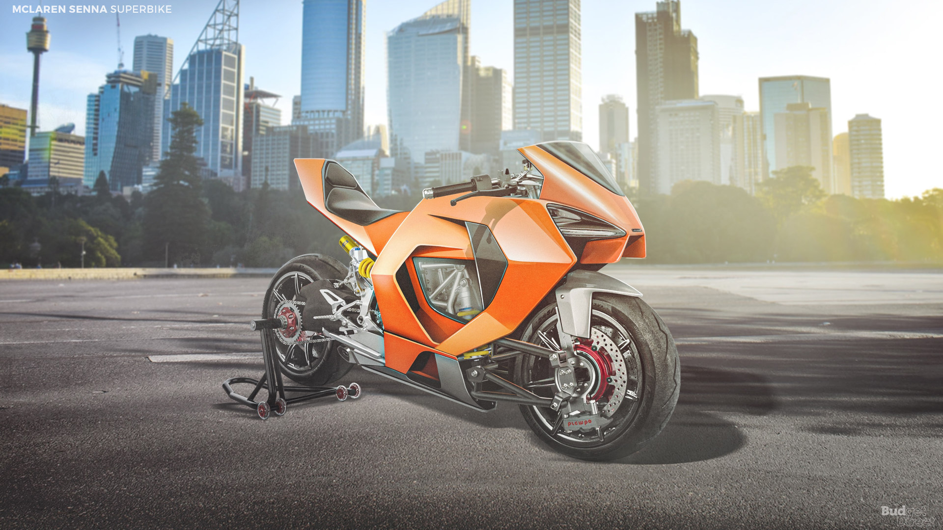 What if supercar brands made superbikes? A McLaren superbike would likely look like a two-wheeled Senna