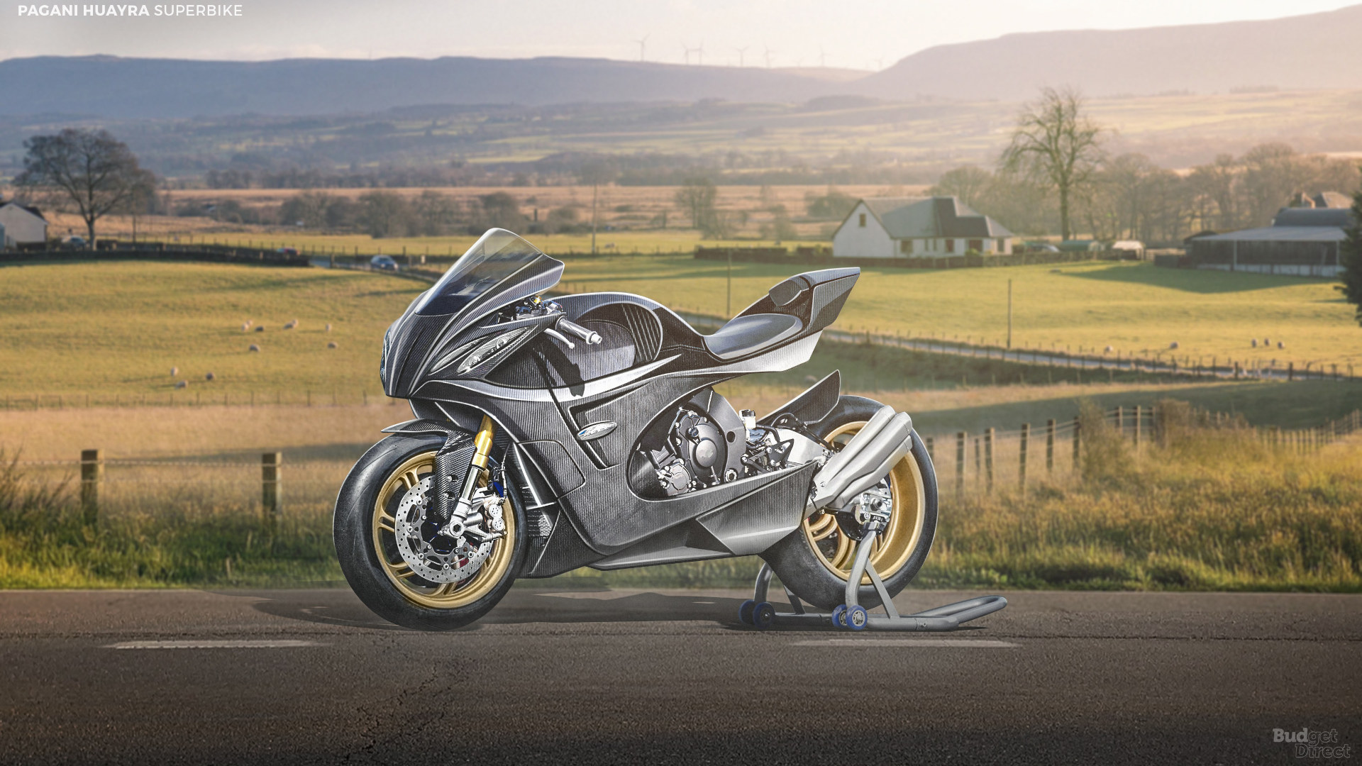 What if supercar brands made superbikes? How about a Pagani Huayra concept superbike?