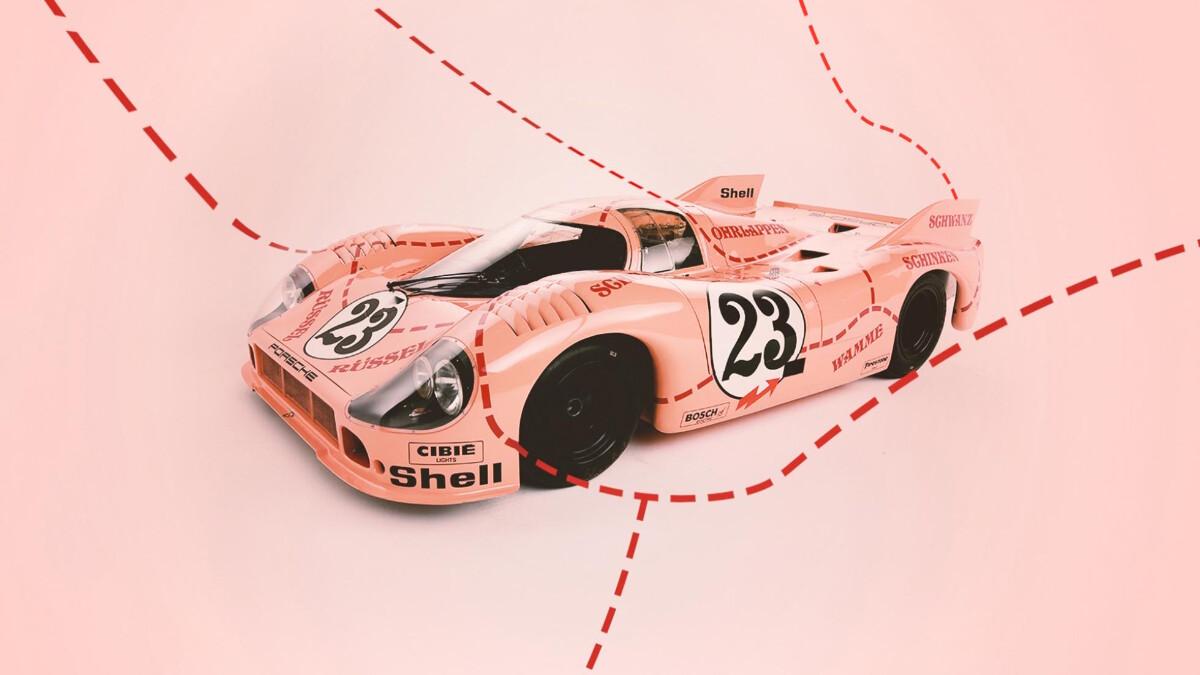 Pink Pig Porsche