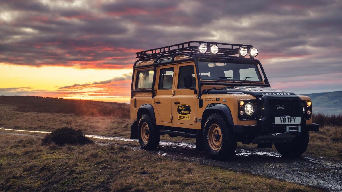The Land Rover Defender V8 Trophy alternative front view