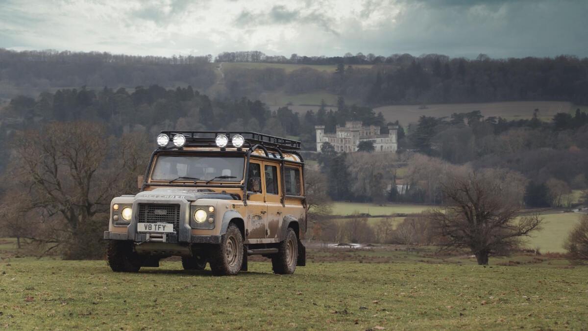 The Land Rover Defender V8 Trophy outdoor