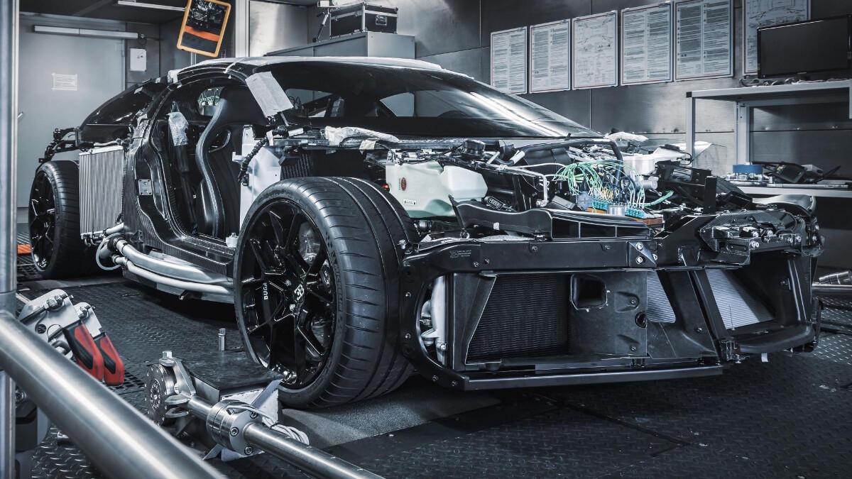 A bare Bugatti Centodieci
