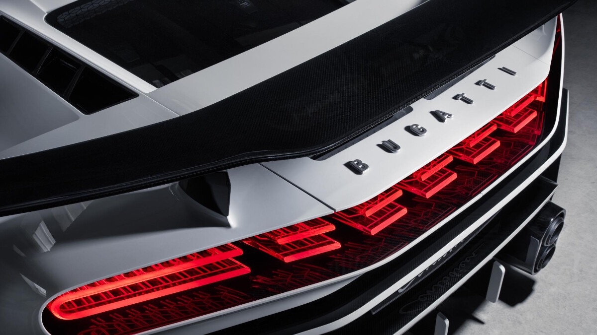 The Bugatti Centodieci tail light
