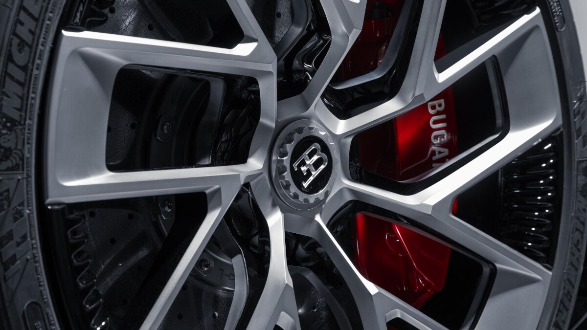 The Bugatti Centodieci wheel rim