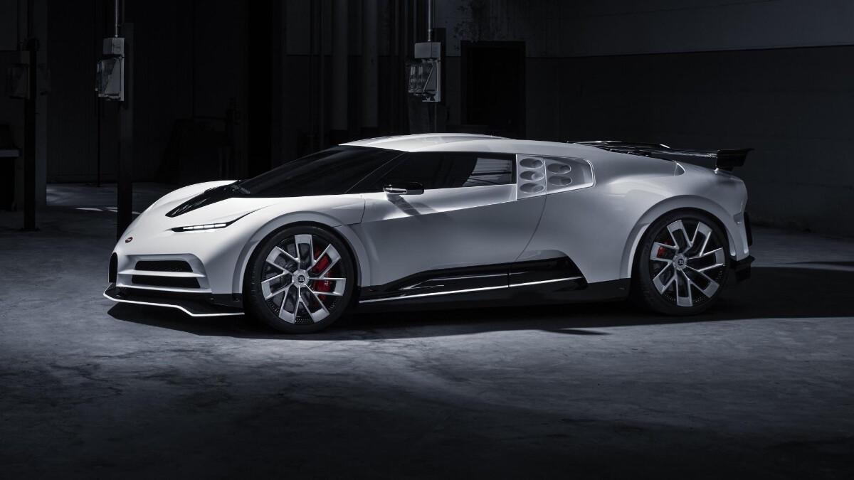 The Bugatti Centodieci angled front view