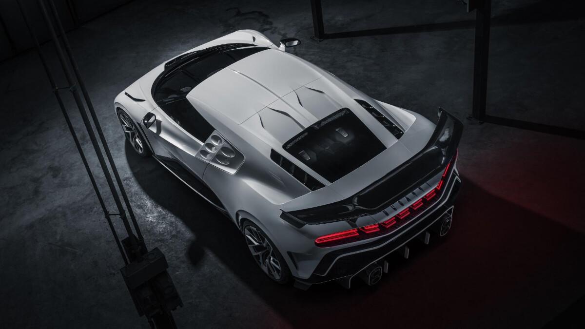 The Bugatti Centodieci rear top view