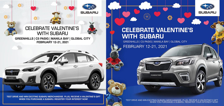 Subaru Valentine's Day Promo Digital Posters