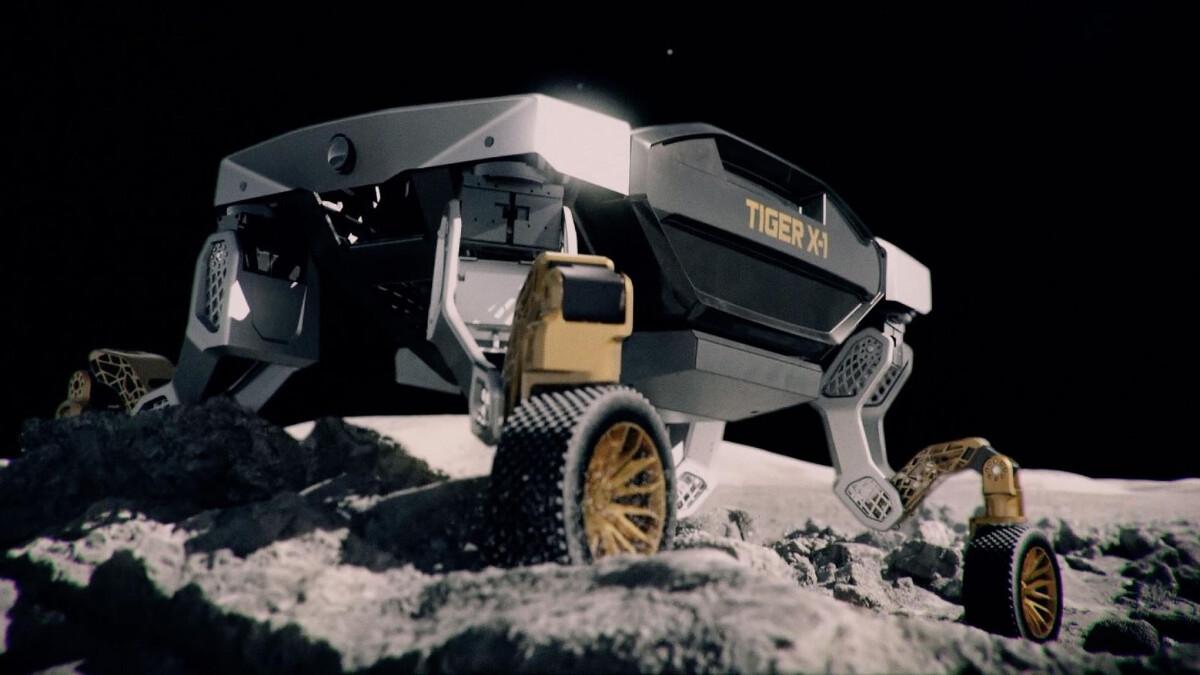 The Hyundai TIGER X-1 concept on the moon