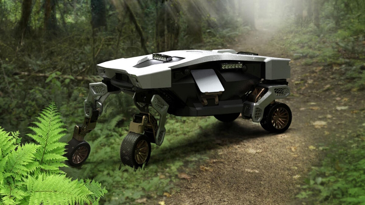 The Hyundai TIGER X-1 in a forest