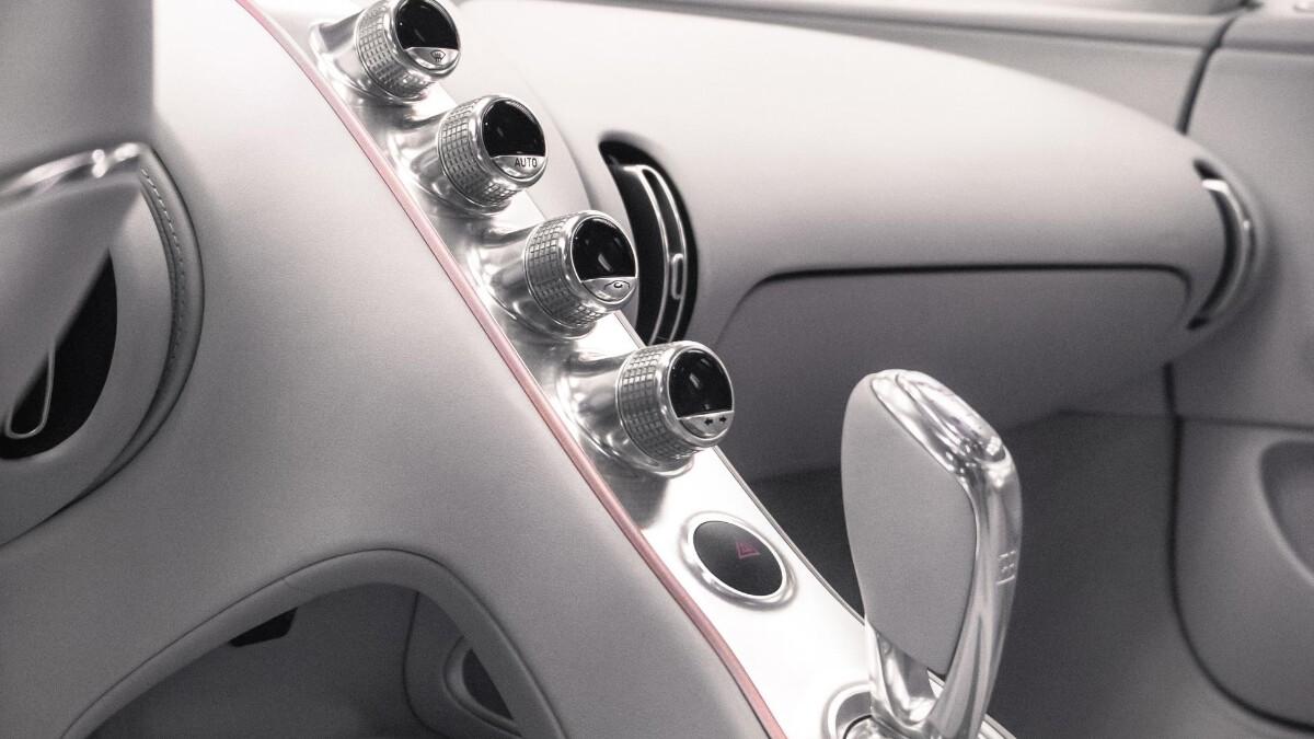The Bugatti Chiron Sport center console and dashboard