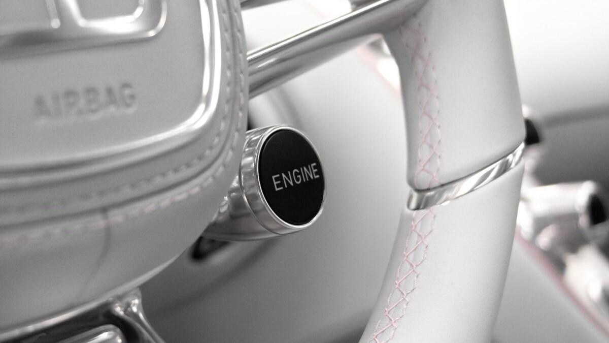 The Bugatti Chiron Sport engine button