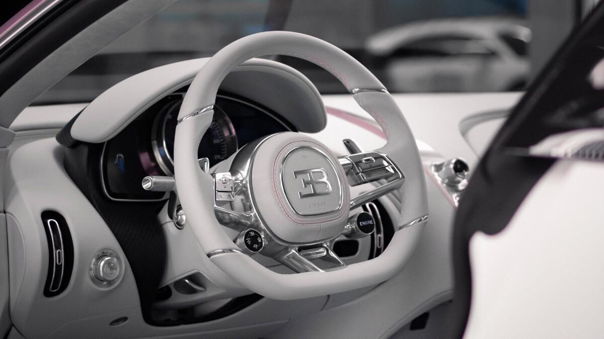 The Bugatti Chiron Sport steering wheel