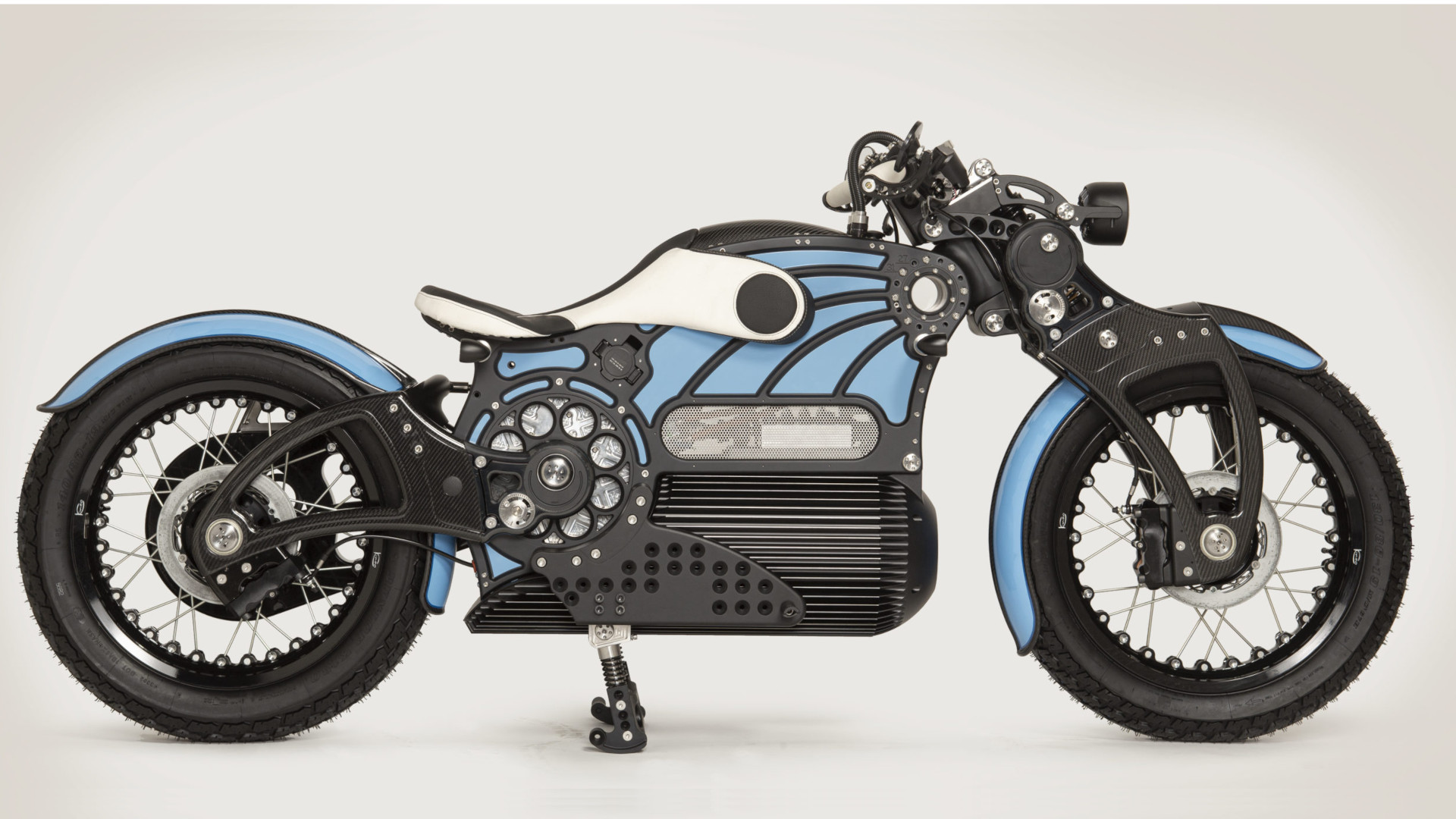 The One by Curtiss Motorcycles - Profile Blue