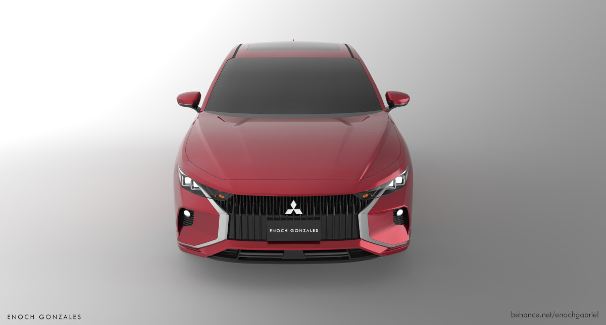 Mitsubishi Lancer concept top front view