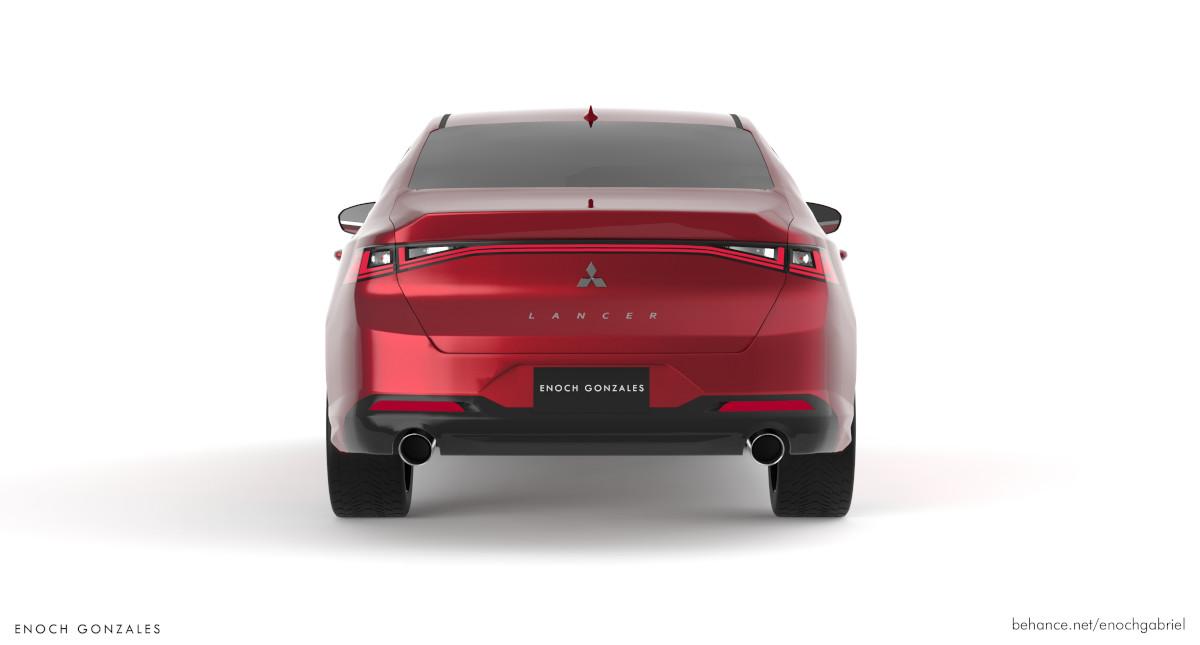 Mitsubishi Lancer concept rear view