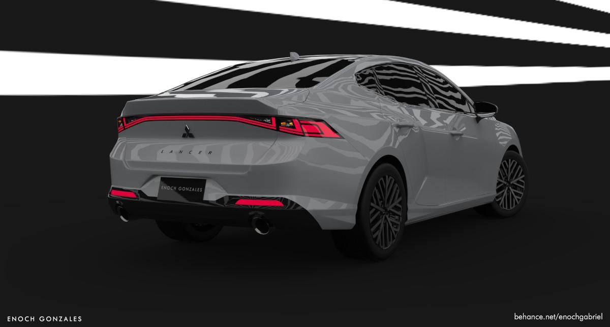 Mitsubishi Lancer concept angled rear view