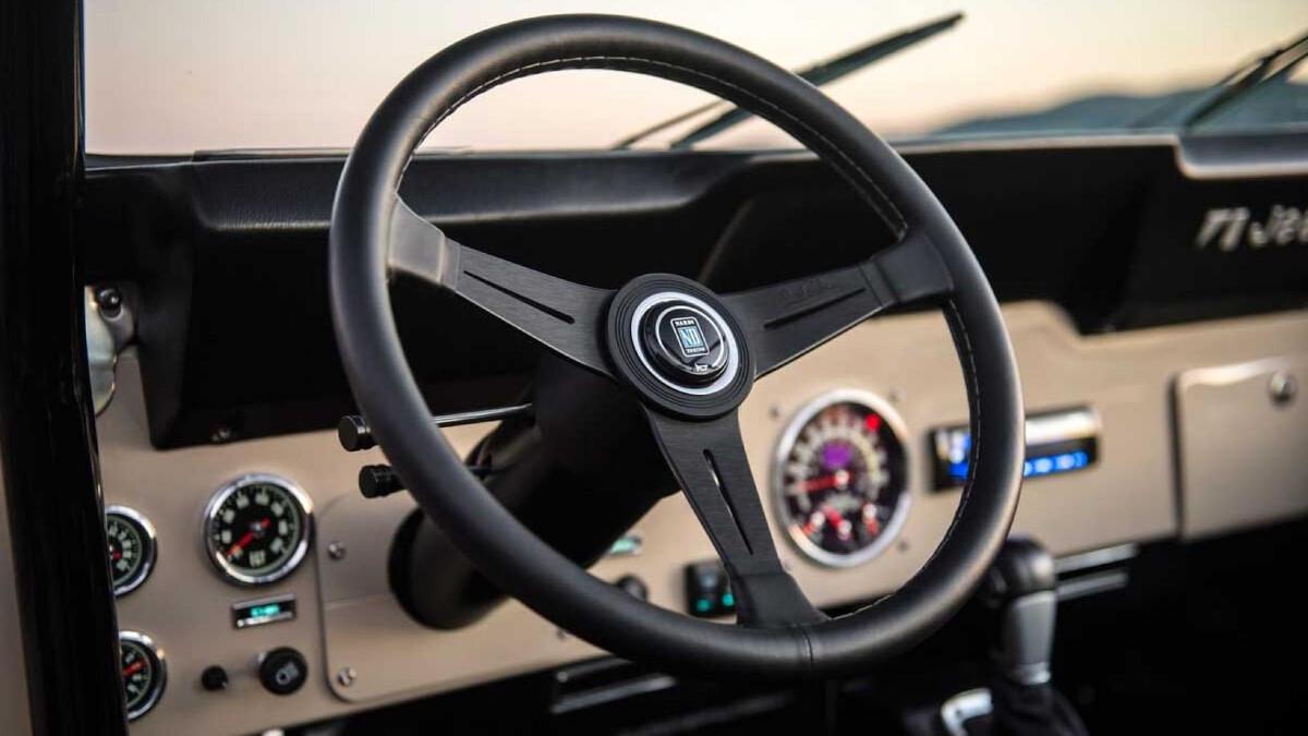 Jeep Scrambler by Legacy Classic Trucks steering wheel