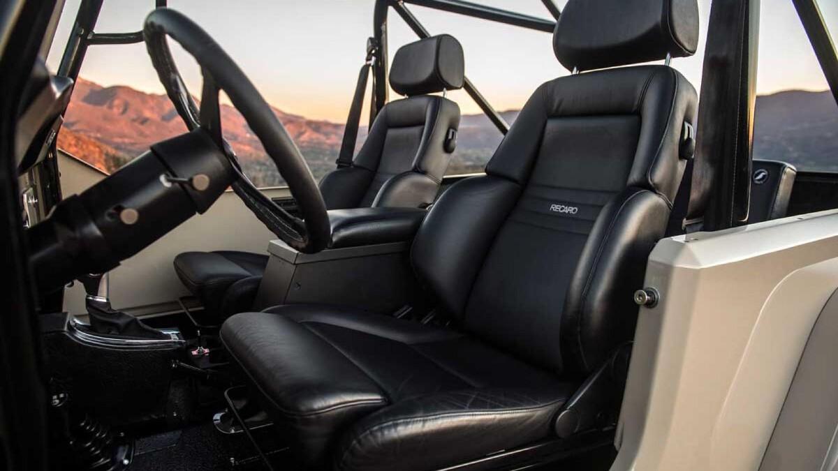 Jeep Scrambler by Legacy Classic Trucks passenger seats