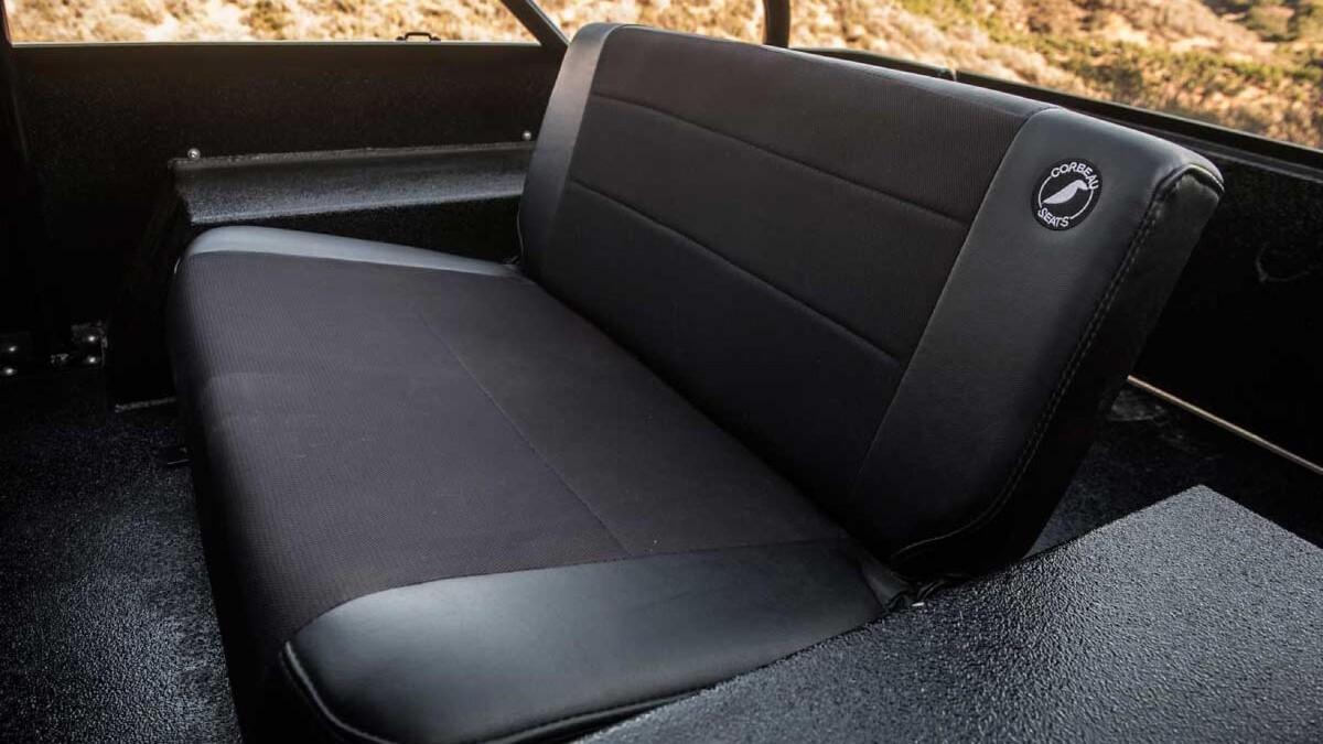 Jeep Scrambler by Legacy Classic Trucks rear passenger seats