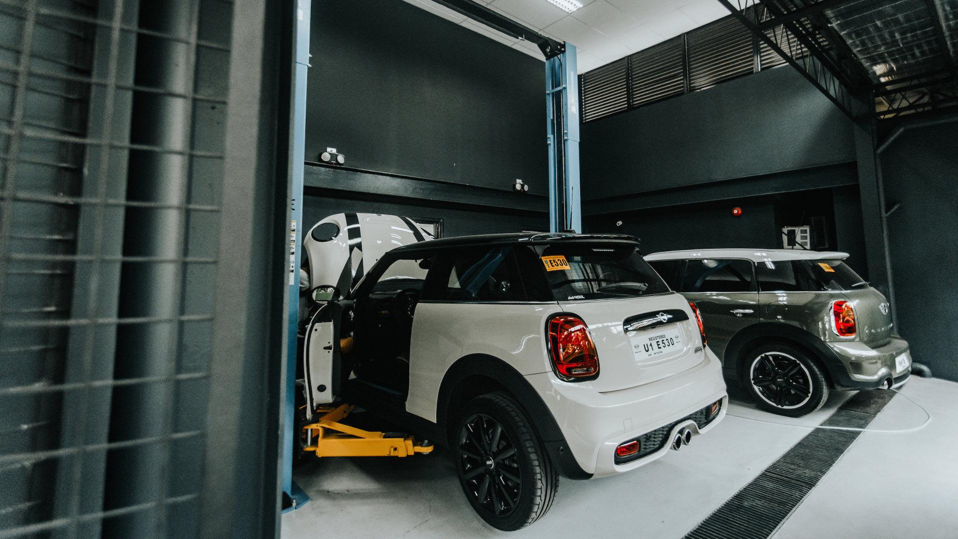 The Mini AutoStudio garage in Cebu