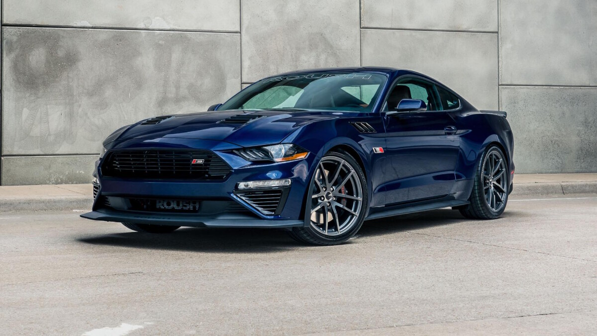 The Stage 3 Ford Mustang angled front view