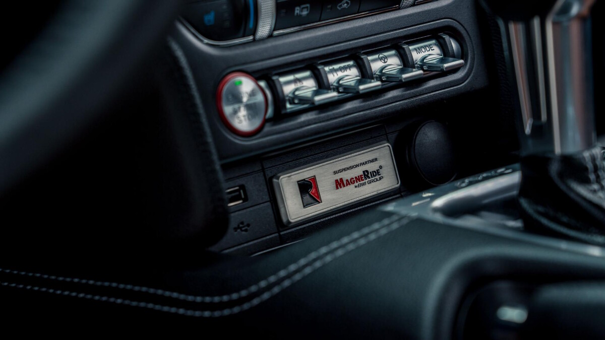 The Stage 3 Ford Mustang  center console