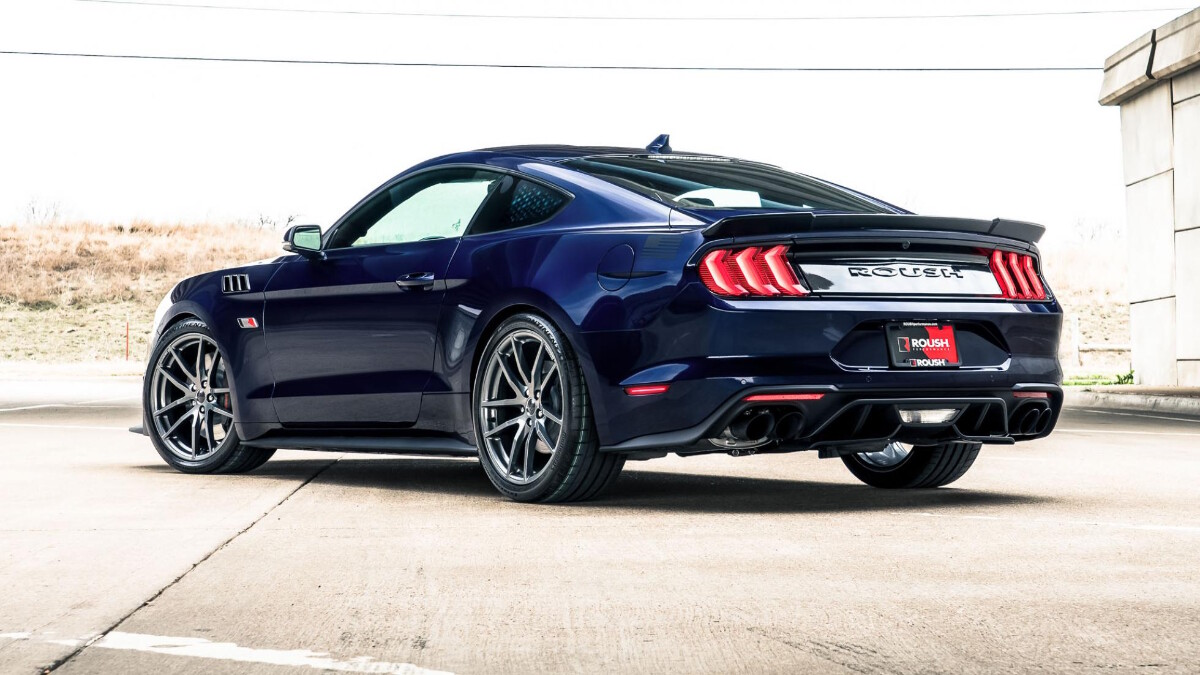 The Stage 3 Ford Mustang rear view