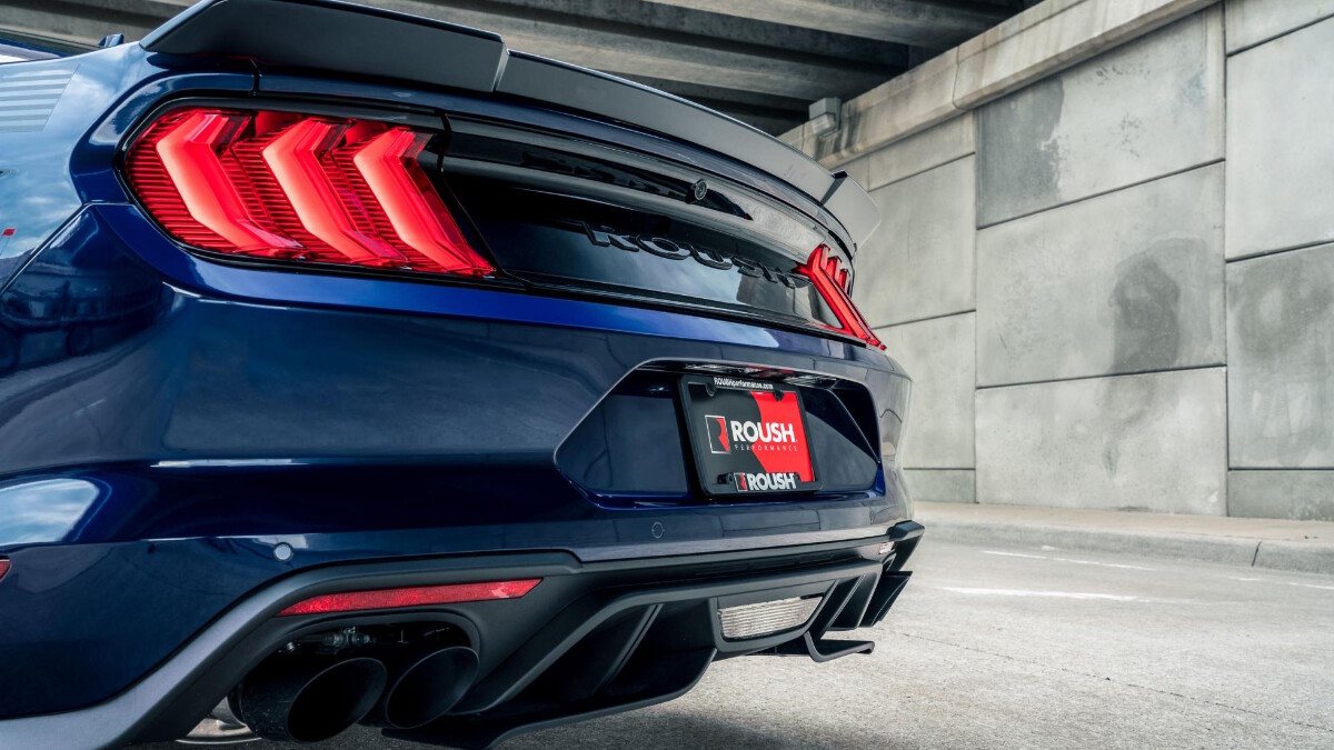The Stage 3 Ford Mustang rear view close up