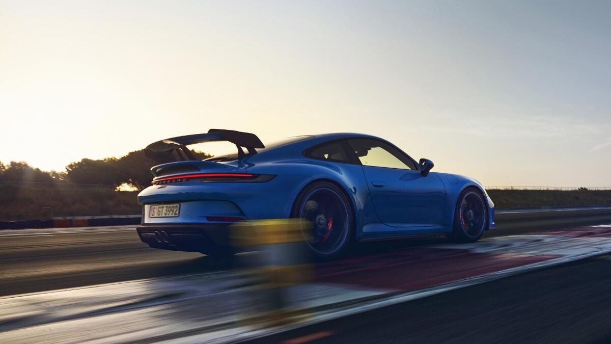 Porsche 911 GT3 on the road alternative angle
