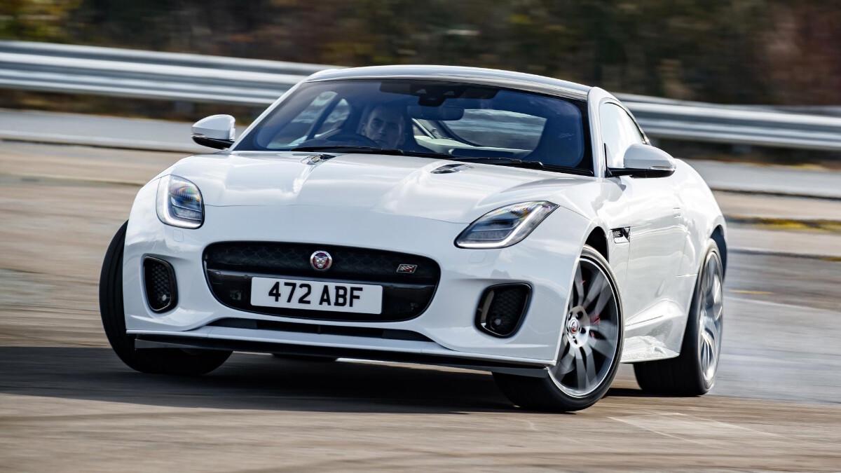 The Jaguar F-Type in White