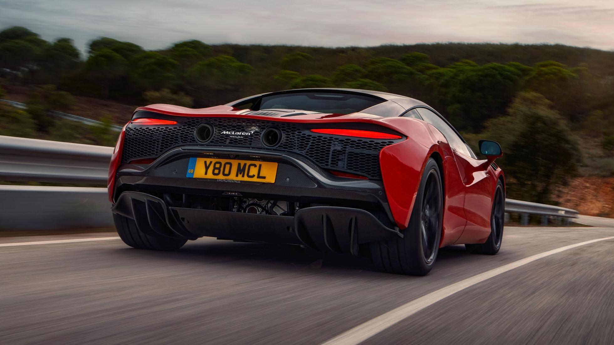 McLaren Artura angled rear view